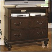 Coaster Sidney 2 Drawer Media Chest in Dark Cherry Finish