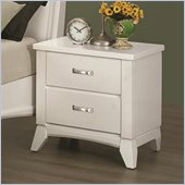 Coaster Eleanor 2 Drawer Nightstand in Smooth White