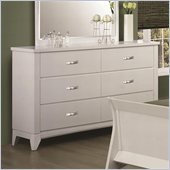 Coaster Eleanor 6 Drawer Dresser in Smooth White