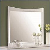 Coaster Eleanor Curved Beveled Mirror in Smooth White