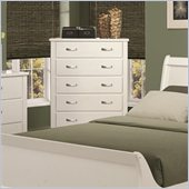 Coaster Eleanor 5 Drawer Chest in Smooth White
