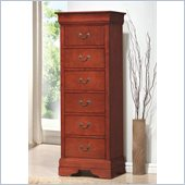 Coaster Louis Philippe 6 Drawer Lingerie Chest in Cherry
