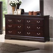 Coaster Louis Philippe 6 Drawer Dresser in Cappuccino