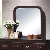 Coaster Louis Philippe Curved Frame Mirror in Cappuccino