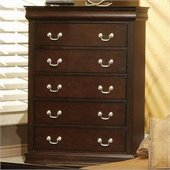 Coaster Louis Philippe 5 Drawer Chest in Cappuccino