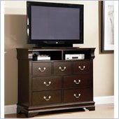 Coaster Louis Philippe Media Chest in Cappuccino