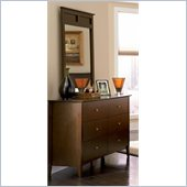 Coaster Tamara Dresser and Mirror Set in Dark Walnut