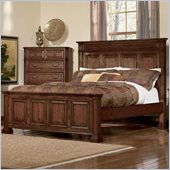 Coaster Edgewood Panel Bed in Deep Cherry