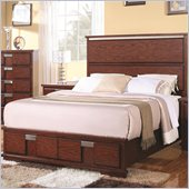 Coaster Hyland Wood Bed with Two Drawers in Dark Cherry