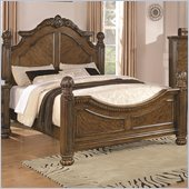 Coaster Bartole Traditional Bed in Light Oak