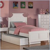 Coaster Daisy Panel Bed in White
