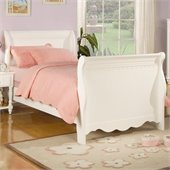 Coaster Pepper Sleigh Bed in White