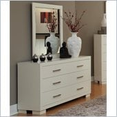 Coaster Jessica Dresser and Mirror Set in White
