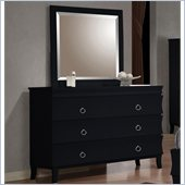 Coaster Holland Dresser and Mirror Set in Black