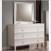 Coaster Holland Dresser and Mirror Set in White