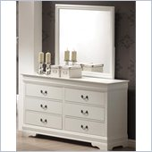 Coaster Saint Laurent Dresser and Mirror Set in White