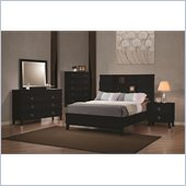Coaster Holland Bookcase Bed 4 Piece Bedroom Set in Black
