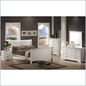 Coaster Saint Laurent 4 Piece Bedroom Set in White