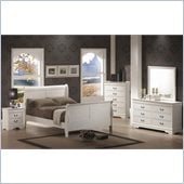 Coaster Saint Laurent 5 Piece Bedroom Set in White