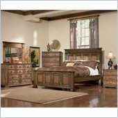 Coaster Saint Edgewood Panel Bed 4 Piece Bedroom Set in Brown Oak