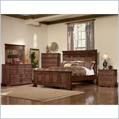 Coaster Saint Edgewood Panel Bed 5 Piece Bedroom Set in Deep Cherry