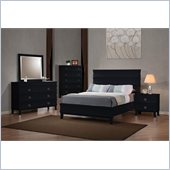 Coaster Holland Casual Bed 3 Piece Bedroom Set in Black