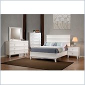 Coaster Holland Casual Bed 4 Piece Bedroom Set in White