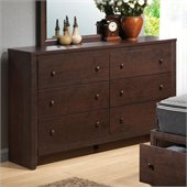 Coaster Remington 6 Drawer Double Dresser in Chery Finish