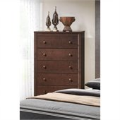 Coaster Remington 5 Drawer Chest in Chery Finish
