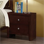 Coaster Serenity 2 Drawer Nightstand in Rich Merlot Finish