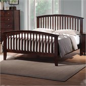 Coaster Tia Queen Bed in Warm Cappuccino Finish