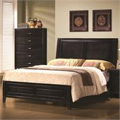 Coaster Nacey Queen Bed in Brown Black Stain