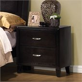 Coaster Nacey 2 Drawer Nightstand in Brown Black Stain