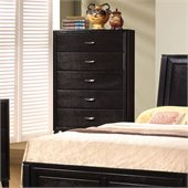 Coaster Nacey 5 Drawer Chest in Brown Black Stain
