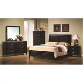 Coaster Nacey 4 Piece Bedroom Set in Brown Black Stain