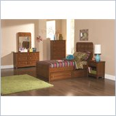 Coaster Aiden 5 Piece Bedroom in Warm Brown