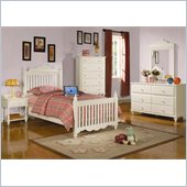 Coaster Pepper 5 Piece Youth Bedroom In White