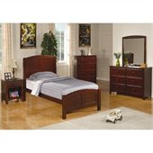 Coaster Parker 5 Piece Panel Bedroom In Deep Dark Cappuccino Finish