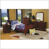 Coaster Louis Philippe 5 Piece Bedroom in Cherry