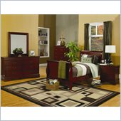Coaster Saint Laurent 4 Piece Bedroom in Cherry Finish