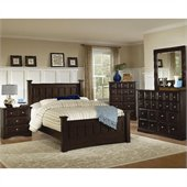 Coaster 3 Piece Harbor Bedroom in Cappuccino Finish