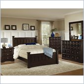Coaster 5 Piece Harbor Bedroom in Cappuccino Finish