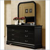 Coaster Louis Philippe Dresser and Mirror Set in Black
