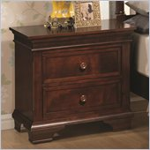 Coaster Montgomery Two Drawer Nightstand in Brown Cherry