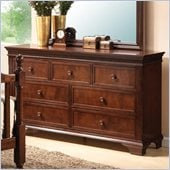 Coaster Montgomery Seven Drawer Double Dresser in Brown Cherry