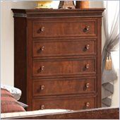 Coaster Montgomery Five Drawer Chest in Brown Cherry