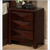 Coaster Bree Three Drawer Nightstand in Rich Brown Cherry