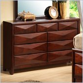 Coaster Bree Nine Drawer Double Dresser in Rich Brown Cherry