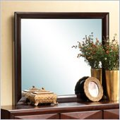 Coaster Bree Square Mirror in Rich Brown Cherry