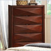 Coaster Bree Five Drawer Chest in Rich Brown Cherry